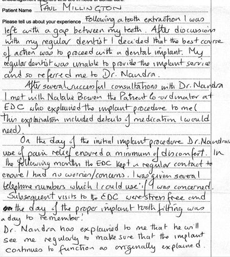 dentist Testimonial 6