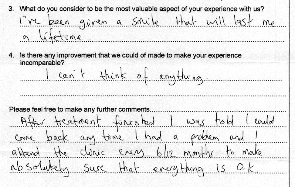 dentist Testimonial 7