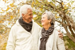 Senior couple with Dentures from Rock House Dental Practice in Tettenhall Wolverhampton