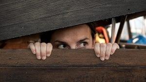 Dentist Wolverhampton Dental Phobia Women hiding as she hates going to the dentist
