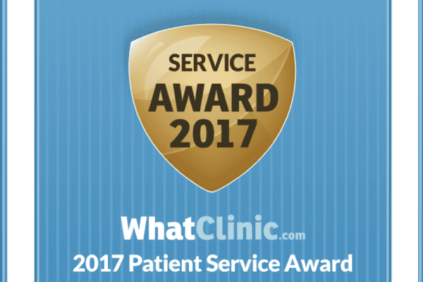 2017 WhatClinic Award Shield Dentist Wolverhampton