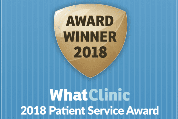 2018 WhatClinic Patient Service Award Shield Dentist Wolverhampton