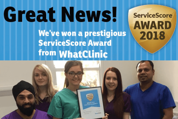Rock House Dental Team with WhatClinic Dental Award Dentist Wolverhampton